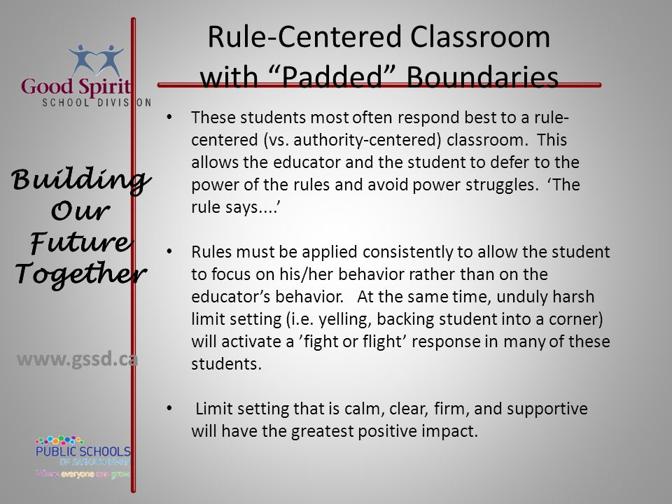 Rule-Centered Classroom with Padded Boundaries