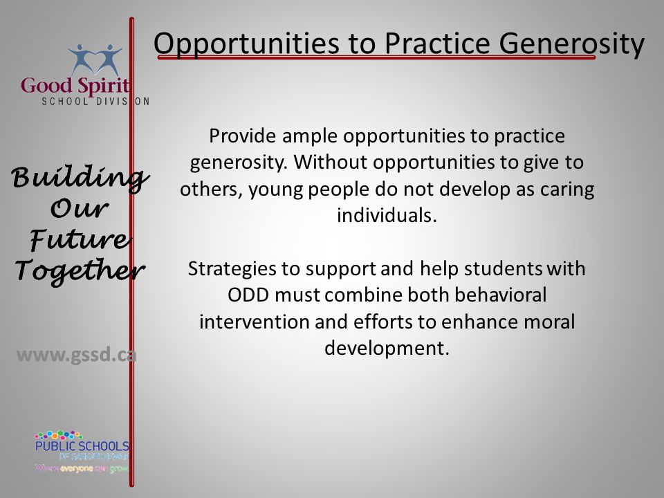 Opportunities to Practice Generosity