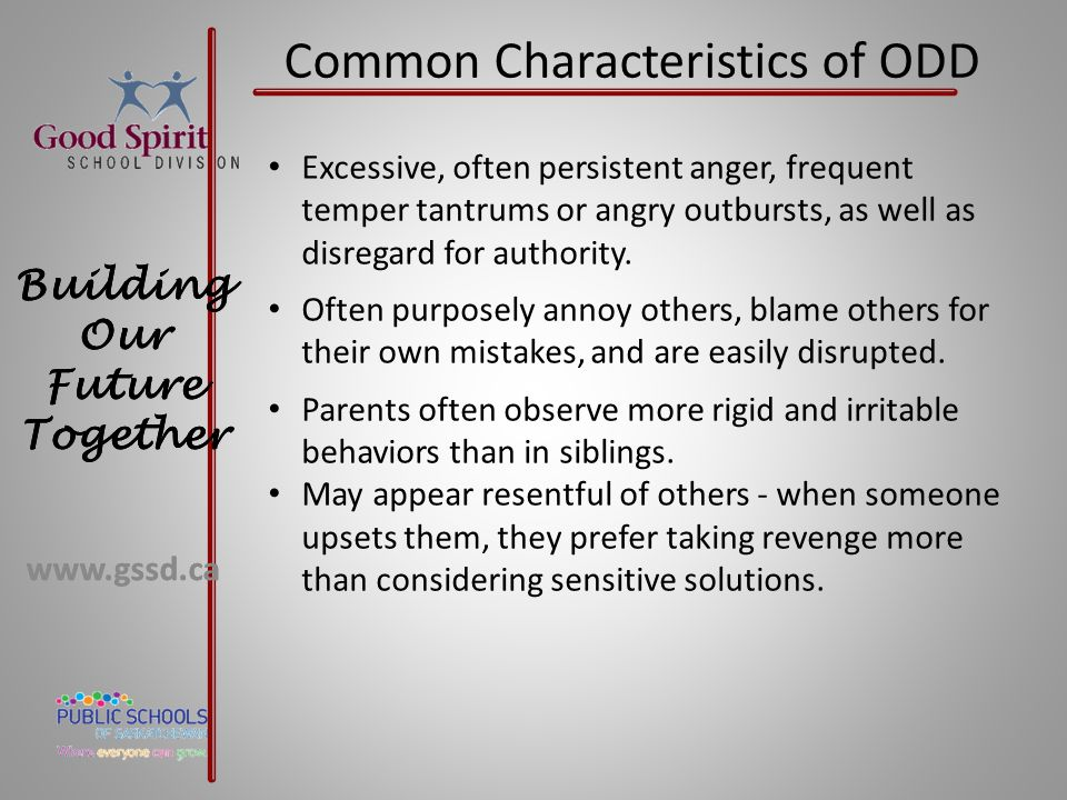 Common Characteristics of ODD