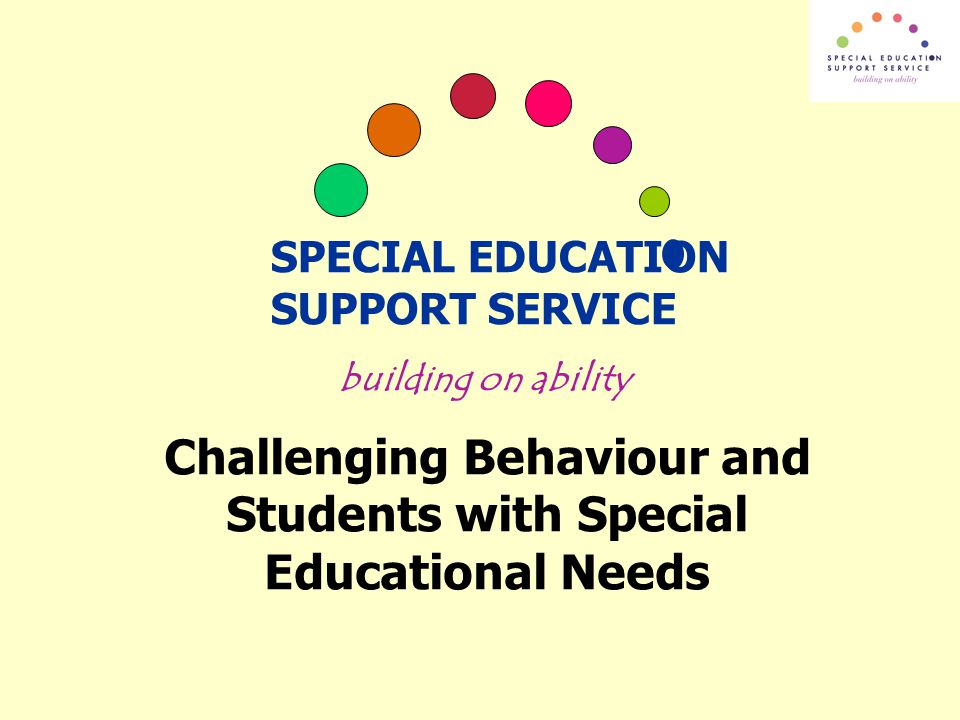 Challenging Behaviour and Students with Special Educational Needs