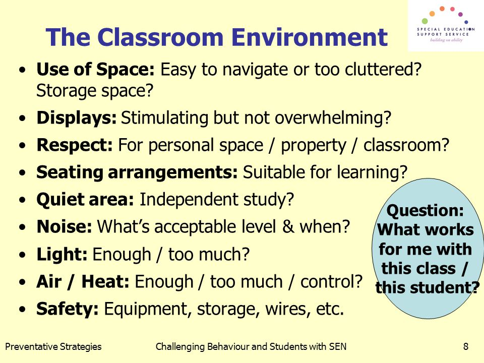 The Classroom Environment