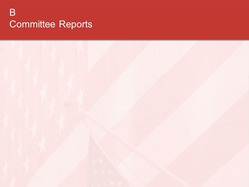 B Committee Reports