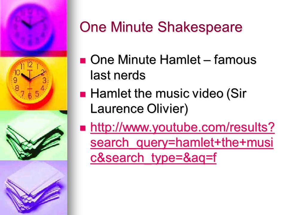 One Minute Shakespeare