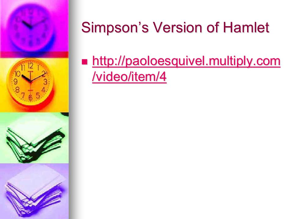Simpson's Version of Hamlet