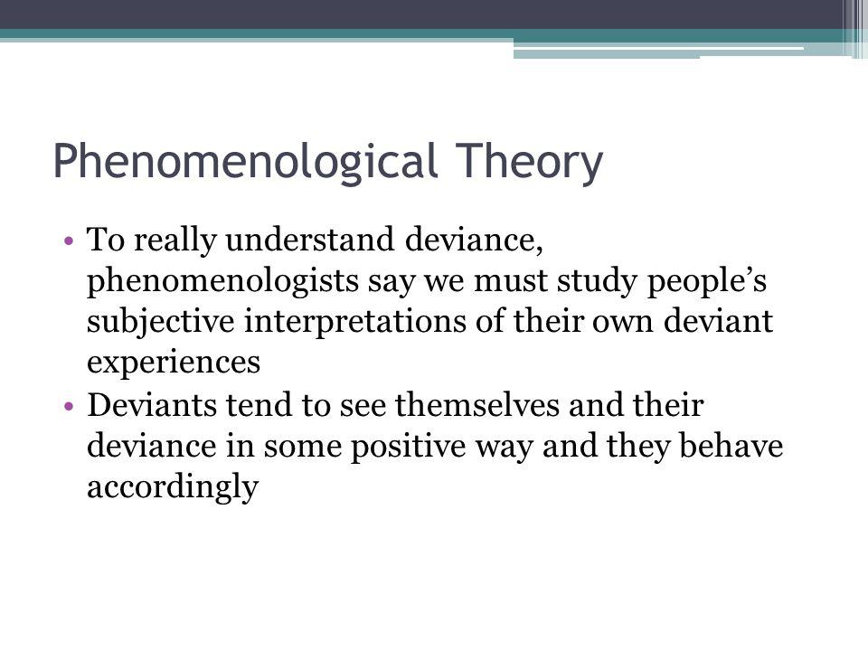 Phenomenological Theory