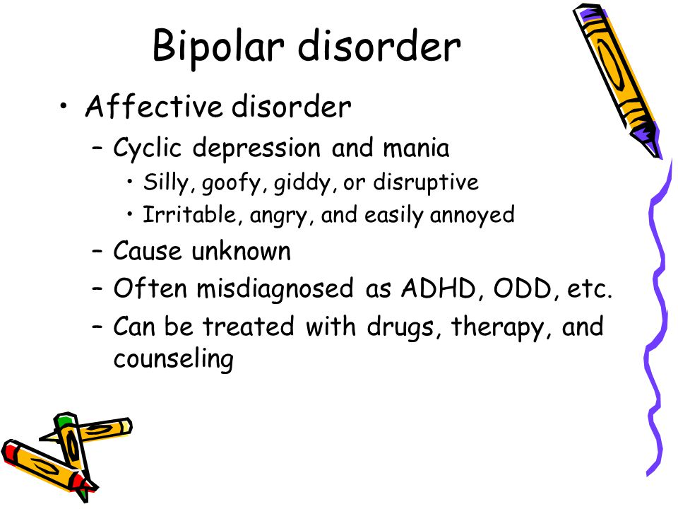 Bipolar disorder Affective disorder Cyclic depression and mania