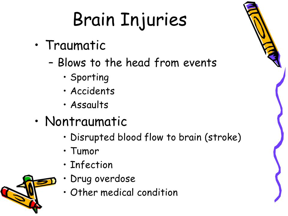 Brain Injuries Traumatic Nontraumatic Blows to the head from events