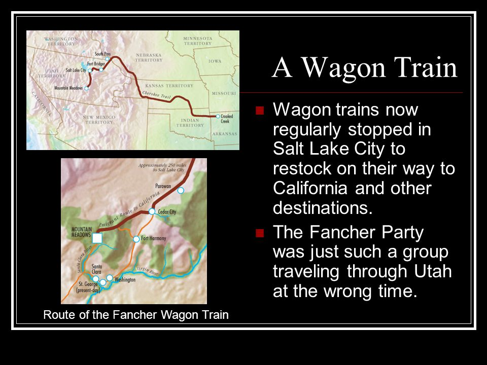 Route of the Fancher Wagon Train