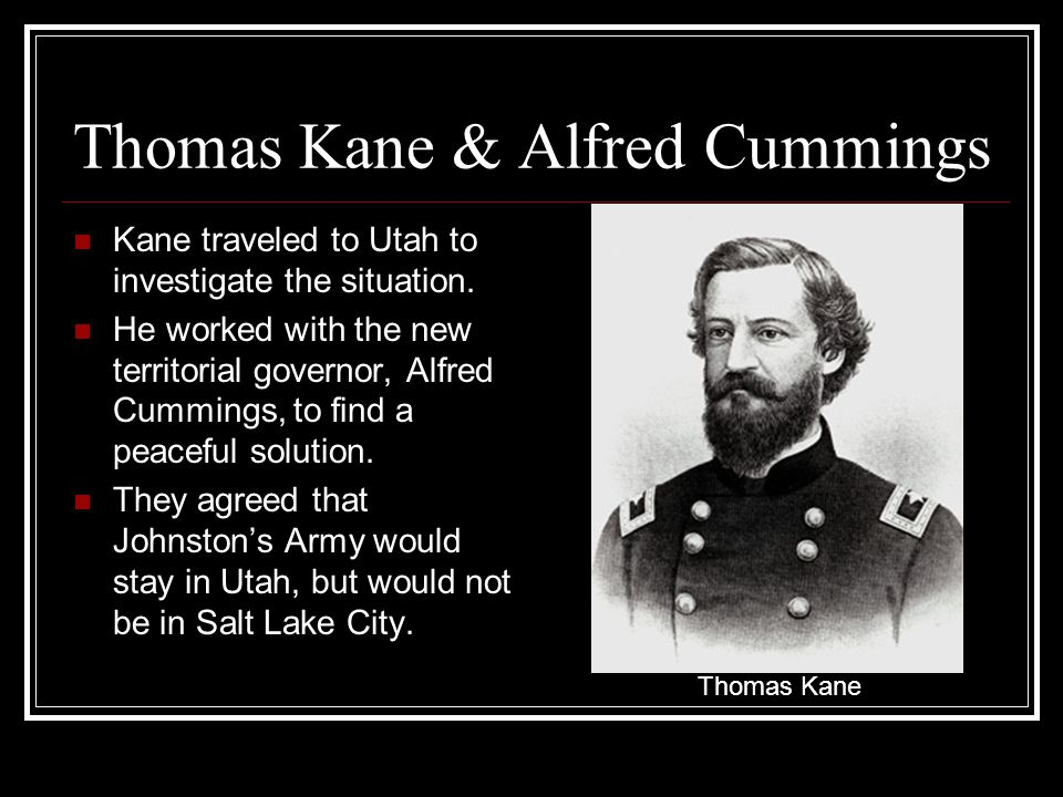 Thomas Kane & Alfred Cummings