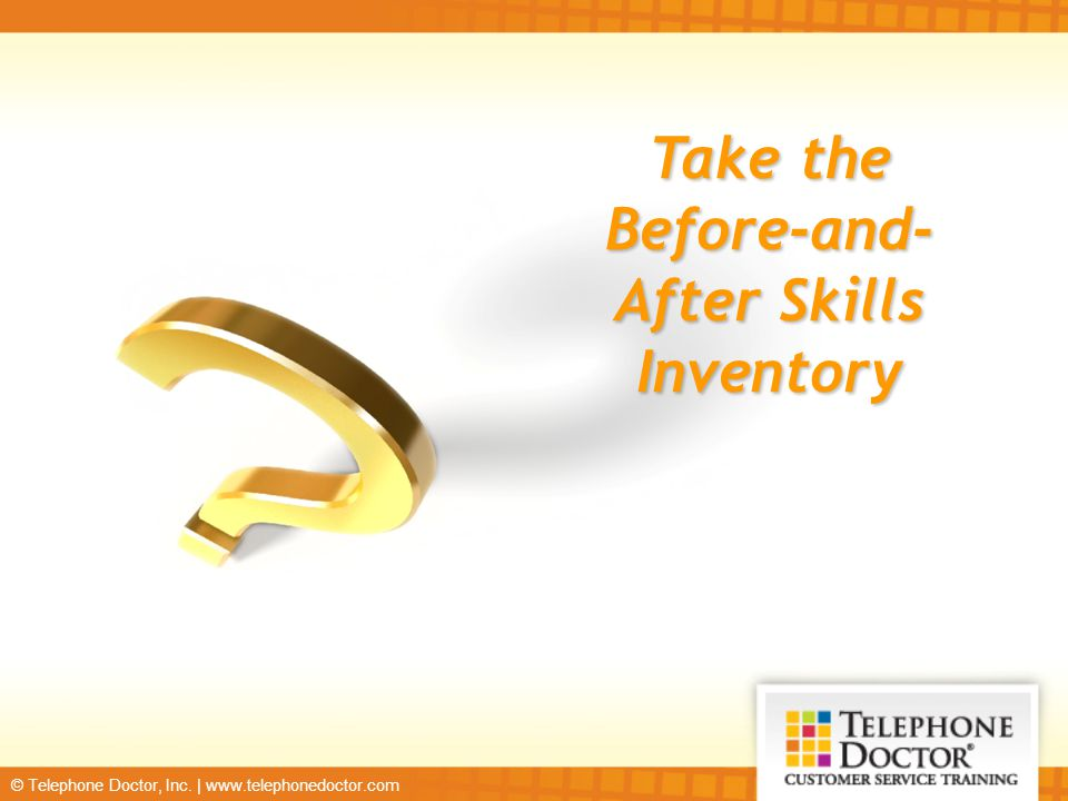 Take the Before-and-After Skills Inventory