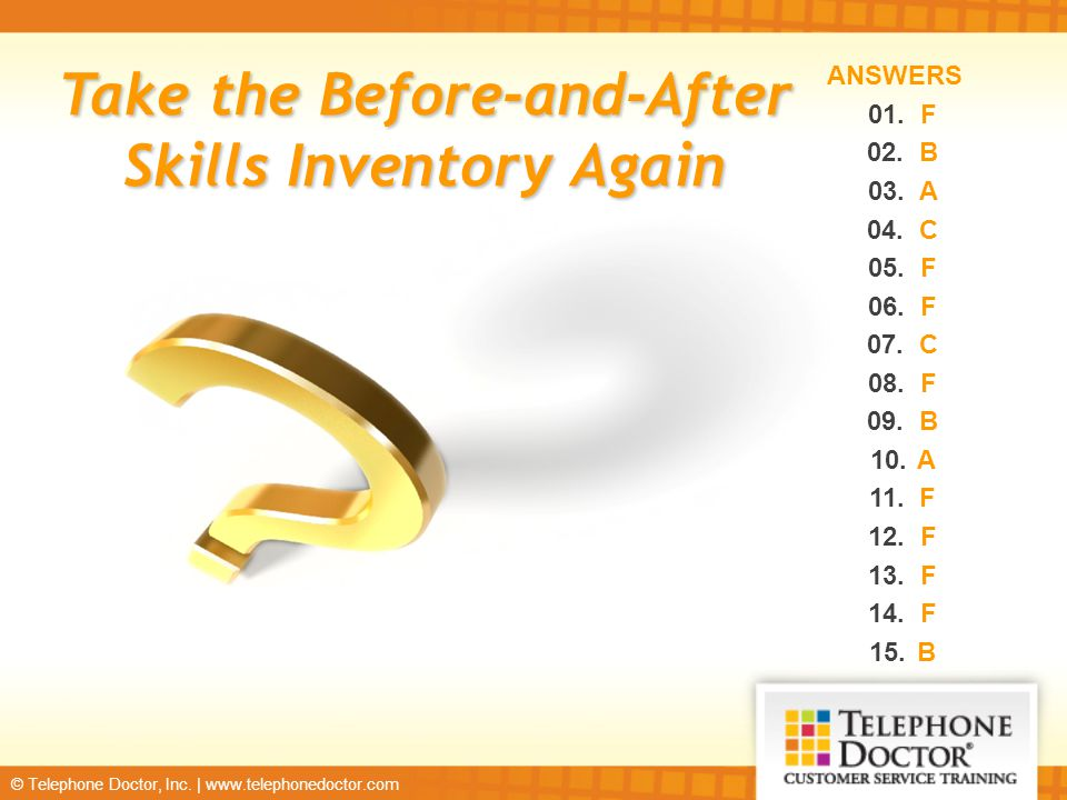 Take the Before-and-After Skills Inventory Again
