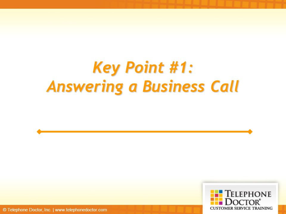 Answering a Business Call