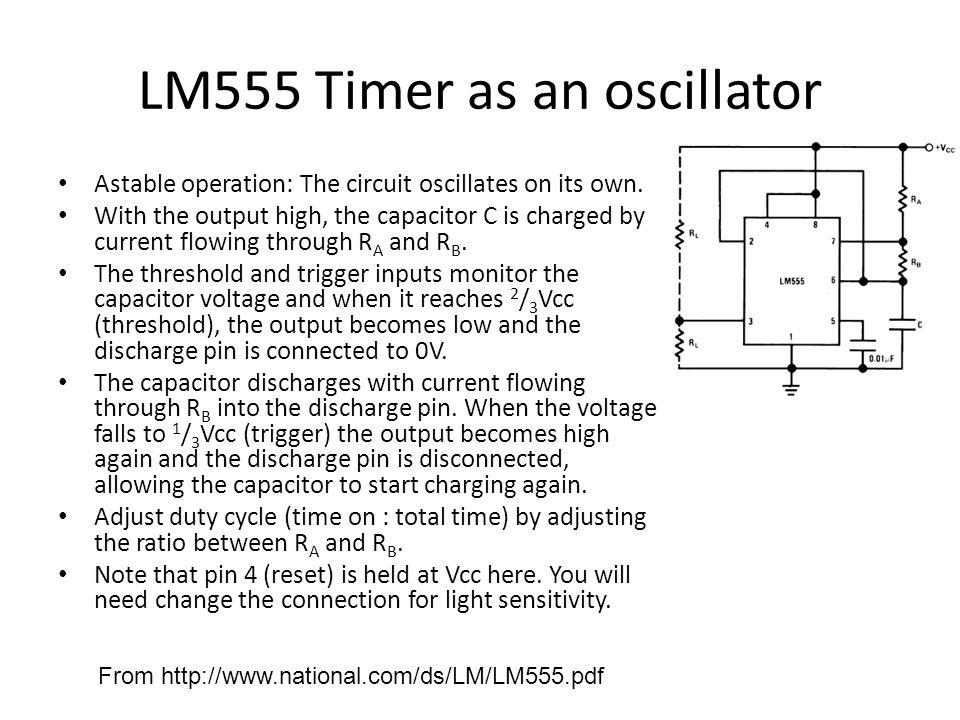 LM555 Timer as an oscillator
