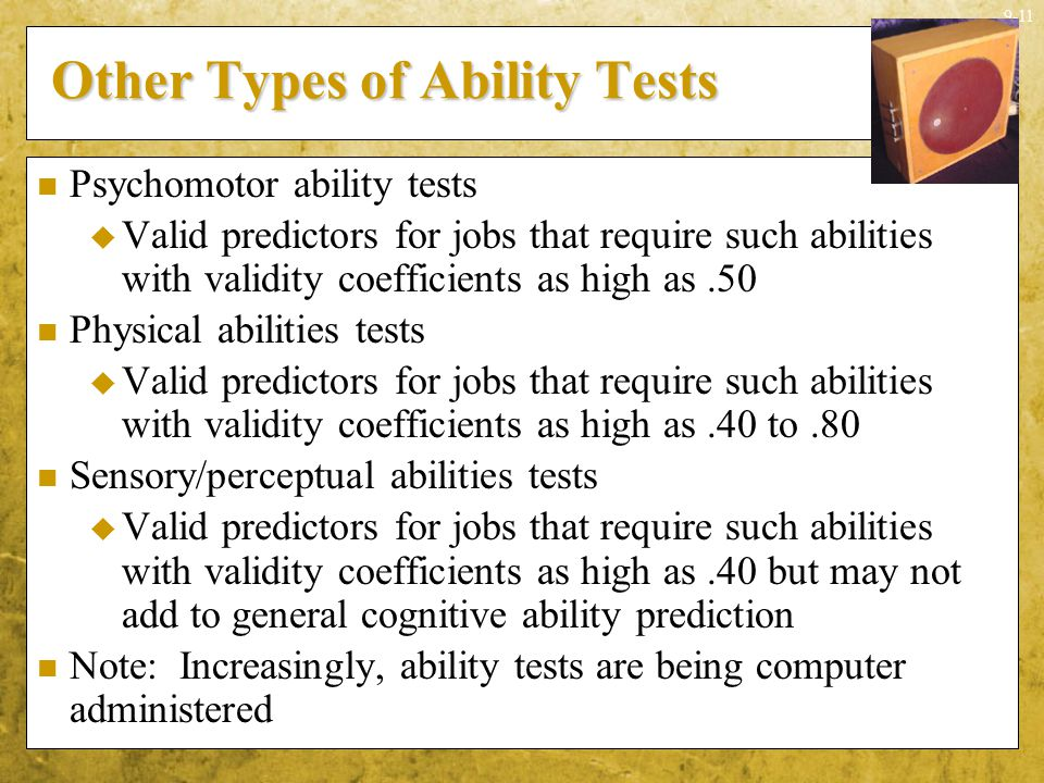 Other Types of Ability Tests