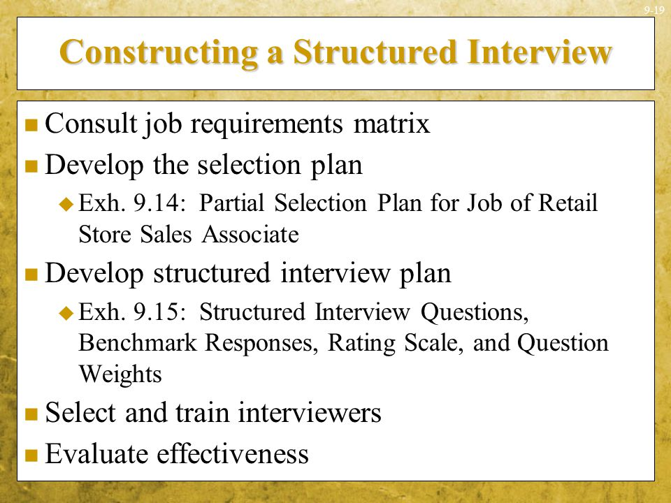 Constructing a Structured Interview