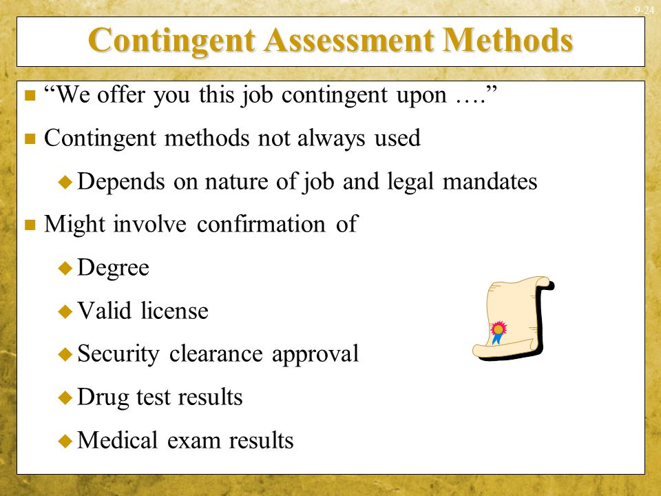 Contingent Assessment Methods