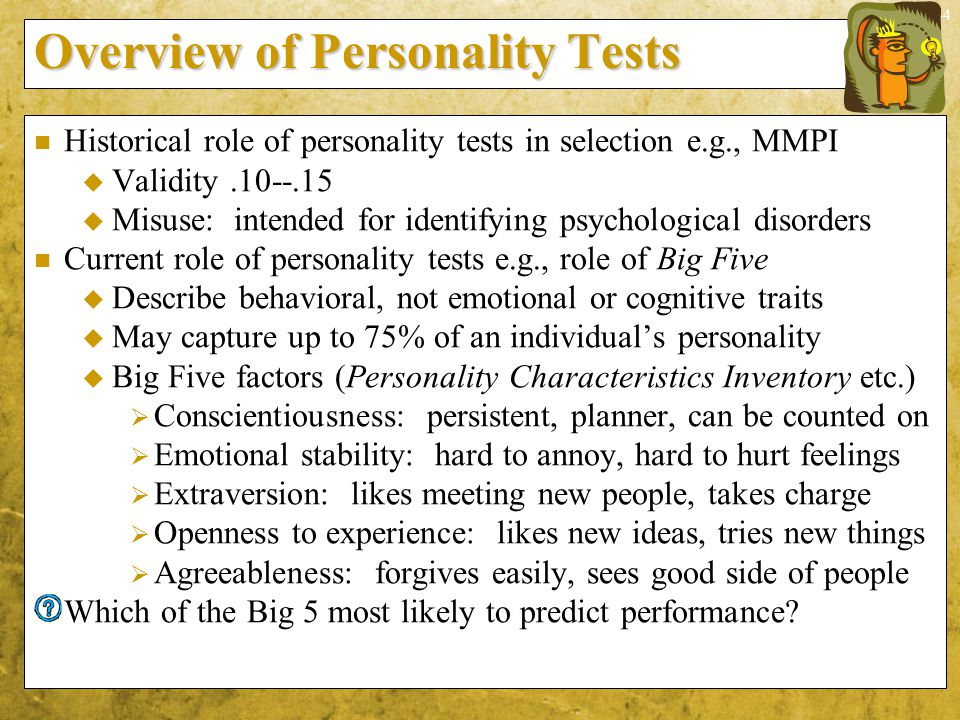 Overview of Personality Tests