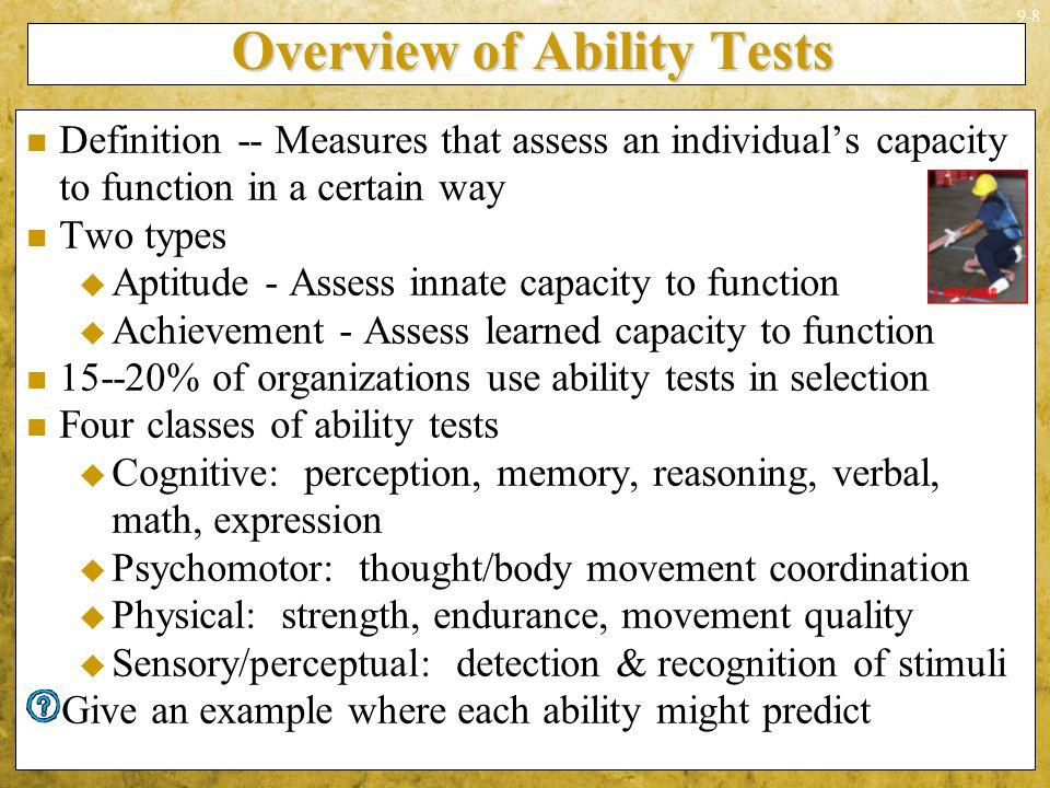 Overview of Ability Tests