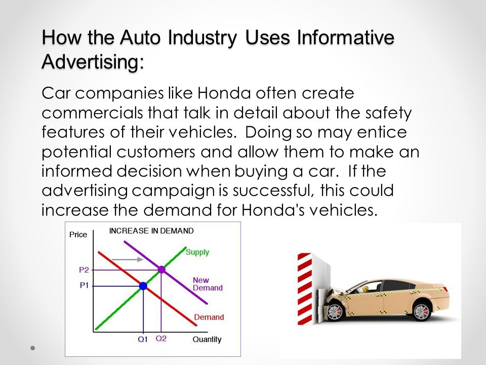 How the Auto Industry Uses Informative Advertising: