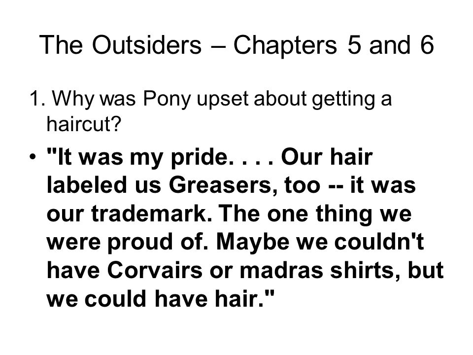 The Outsiders – Chapters 5 and 6