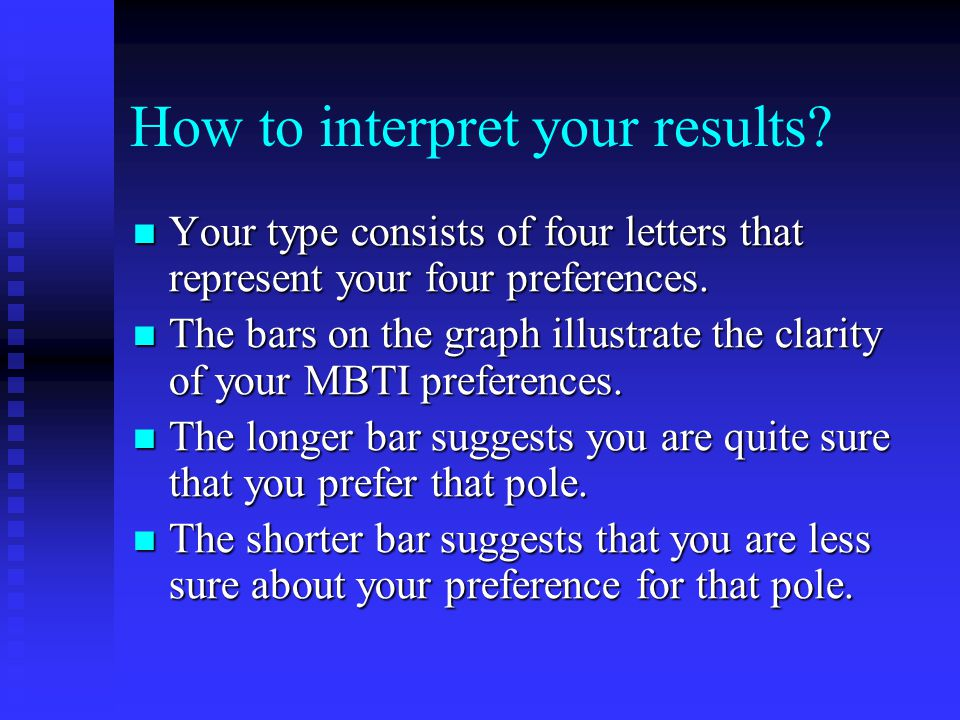 How to interpret your results