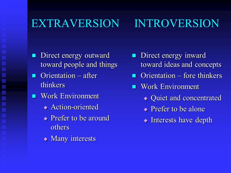 EXTRAVERSION INTROVERSION