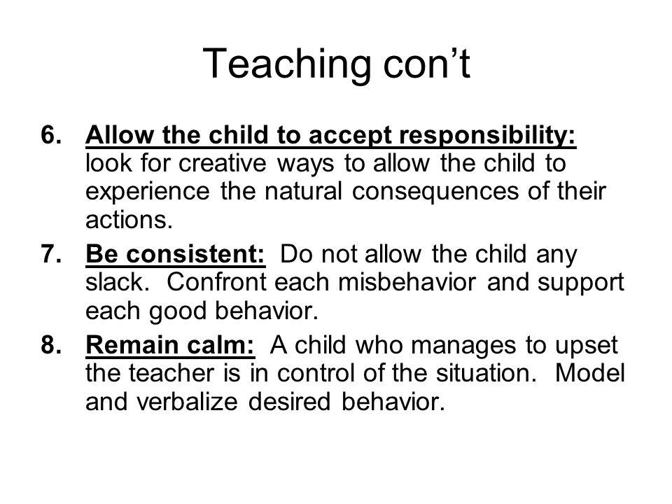 Teaching con't