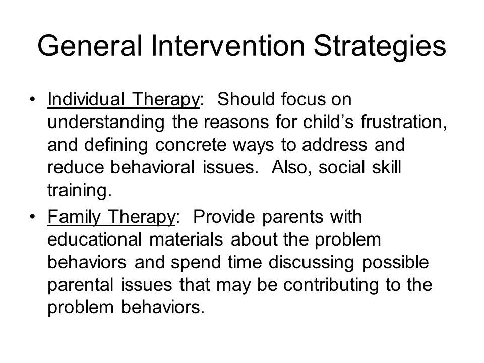 General Intervention Strategies