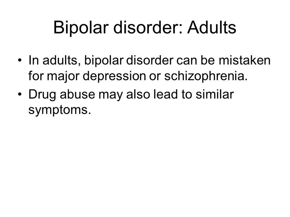 Bipolar disorder: Adults