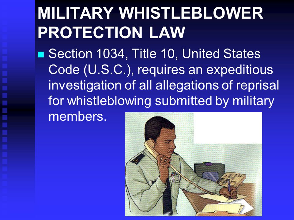 MILITARY WHISTLEBLOWER PROTECTION LAW