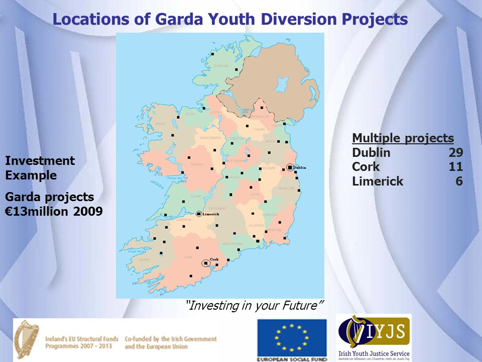 Locations of Garda Youth Diversion Projects