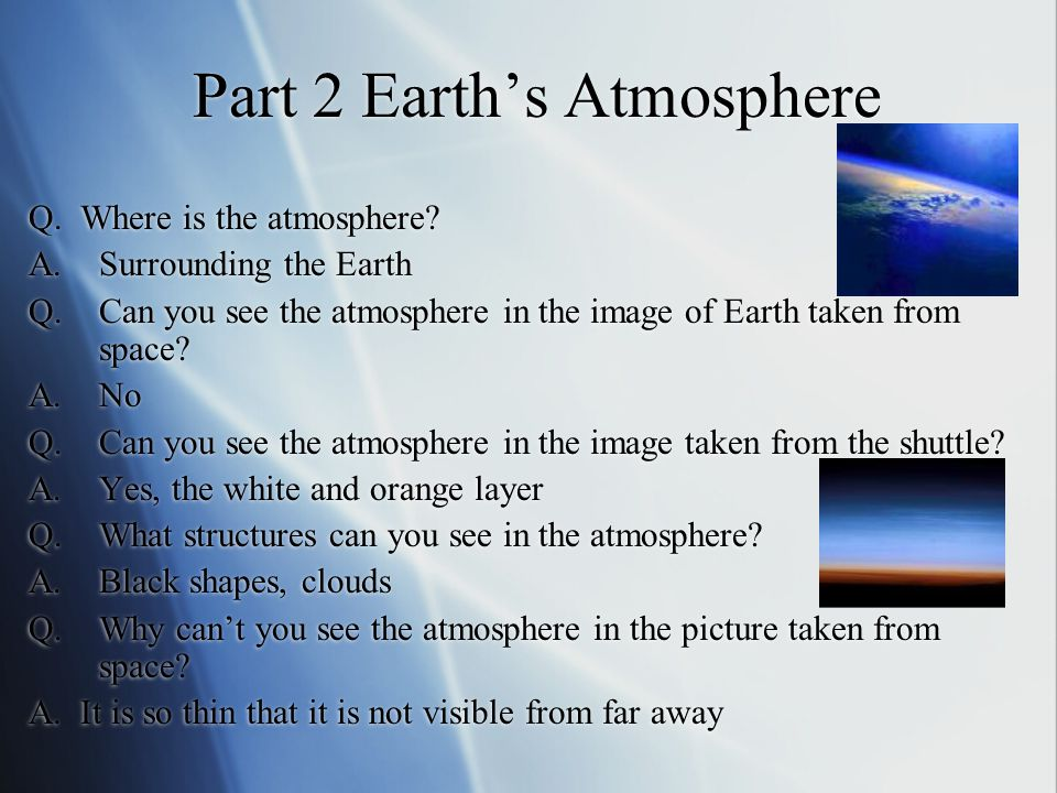 Part 2 Earth's Atmosphere