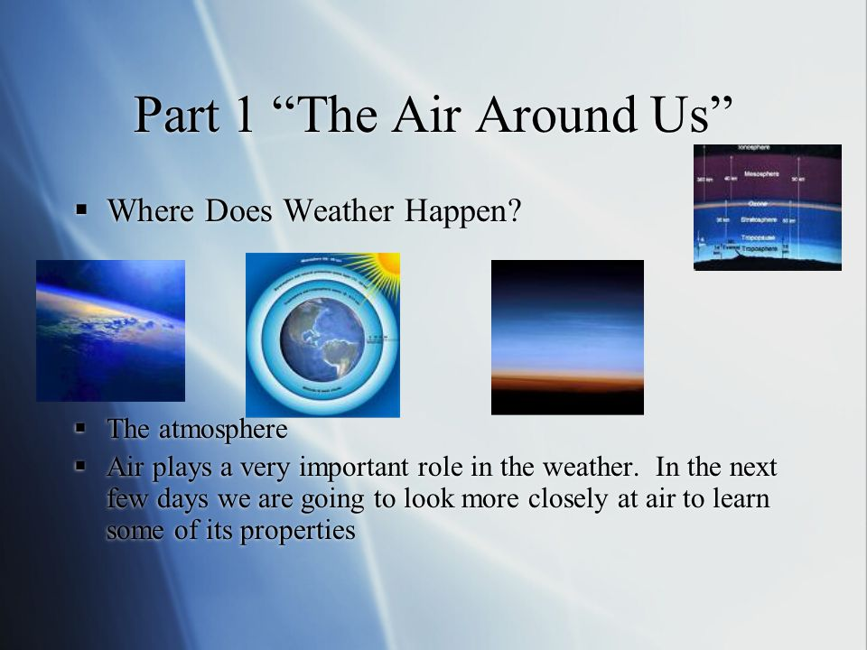 Part 1 The Air Around Us