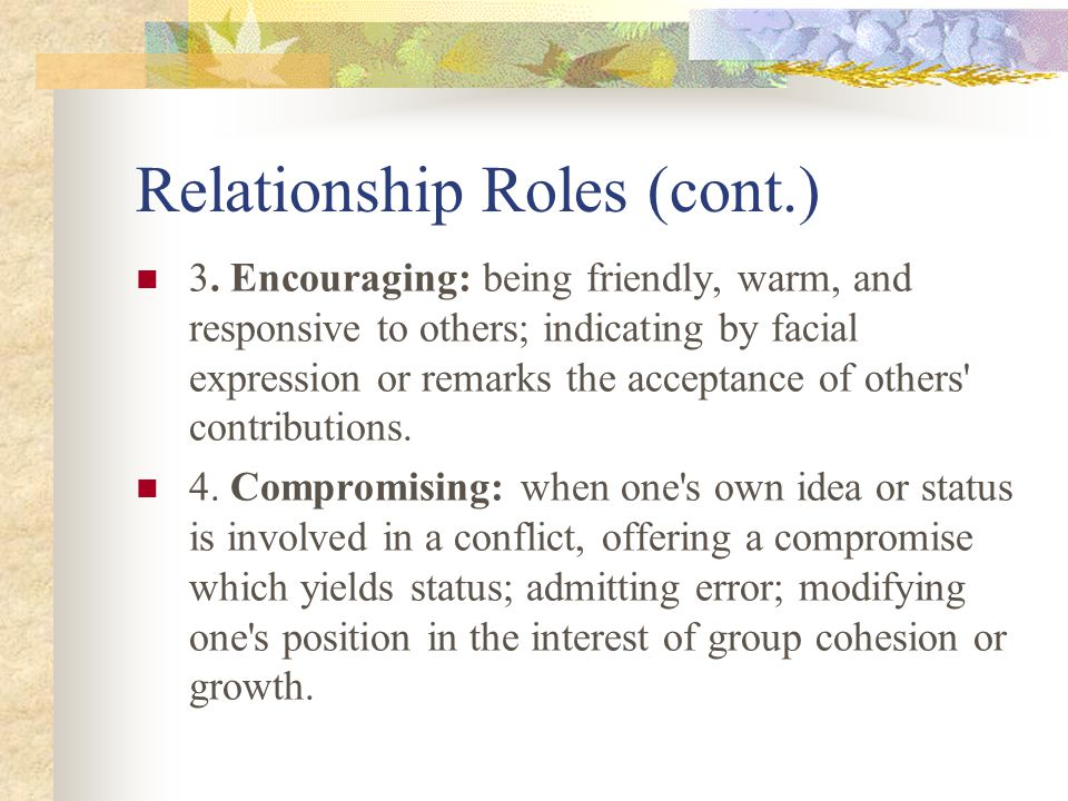 Relationship Roles (cont.)