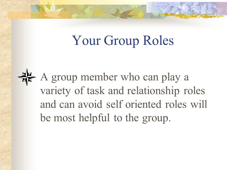 Your Group Roles
