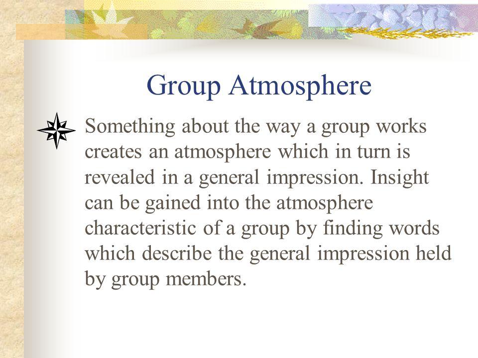 Group Atmosphere