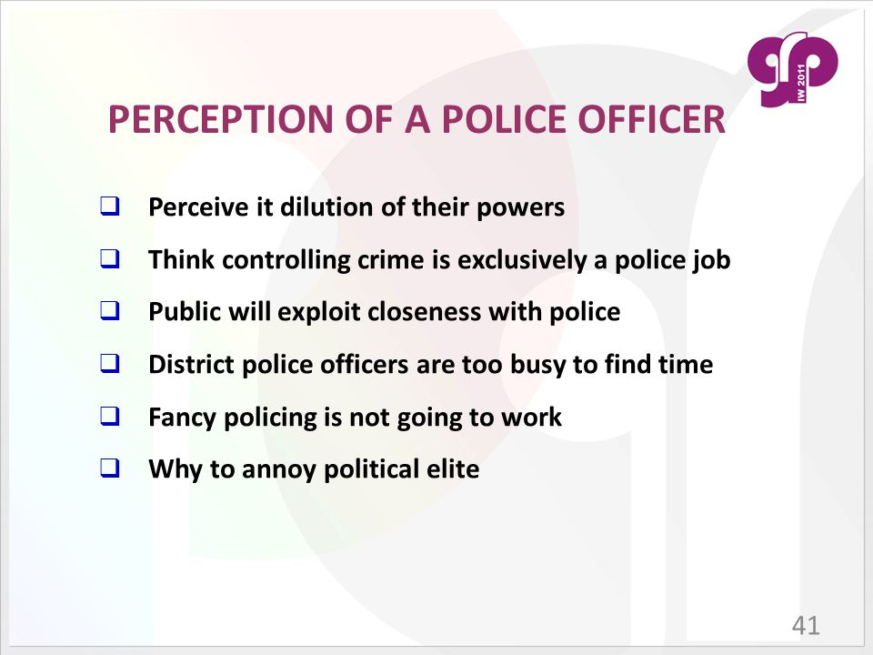 Public Perception Of The Police