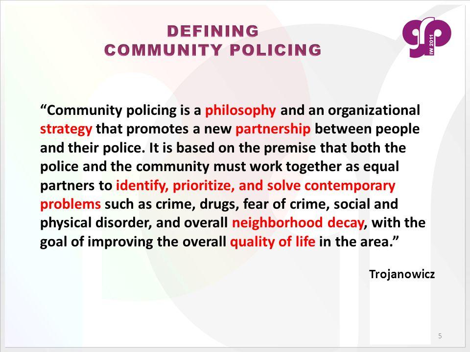 DEFINING COMMUNITY POLICING