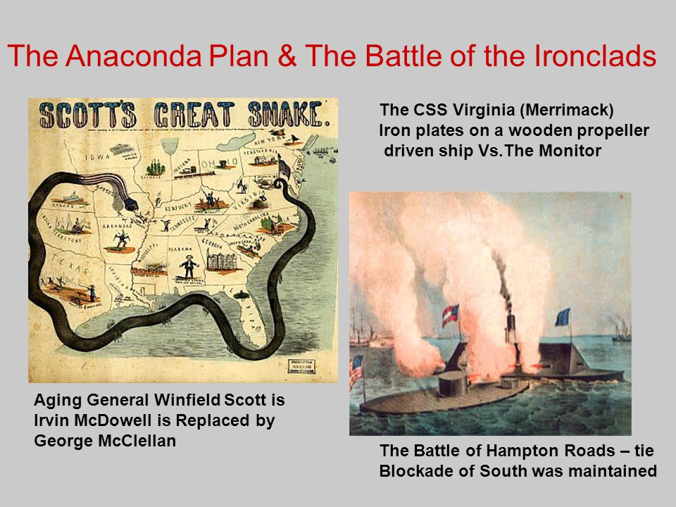 The Anaconda Plan & The Battle of the Ironclads