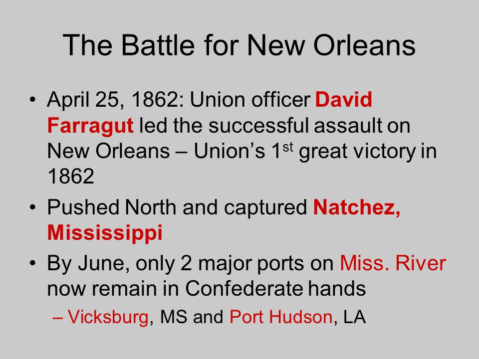 The Battle for New Orleans