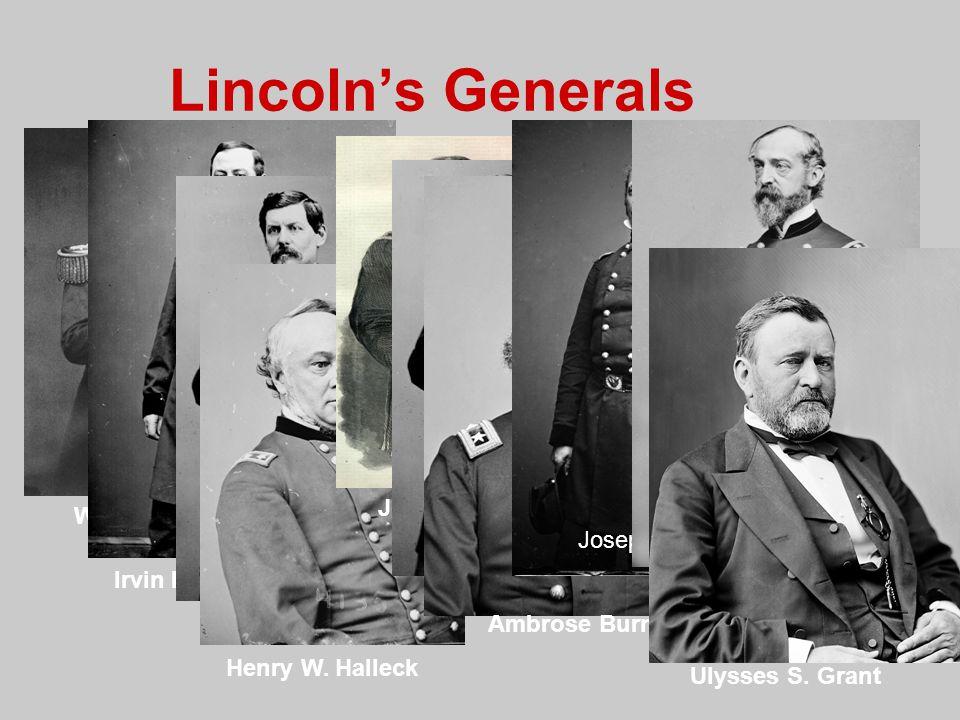 Lincoln's Generals John Pope Winfield Scott Joseph Hooker