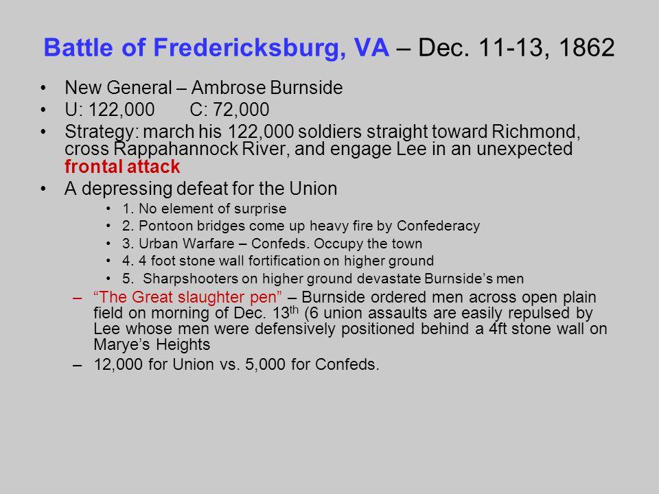 Battle of Fredericksburg, VA – Dec. 11-13, 1862