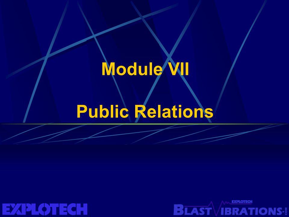 Module VII Public Relations