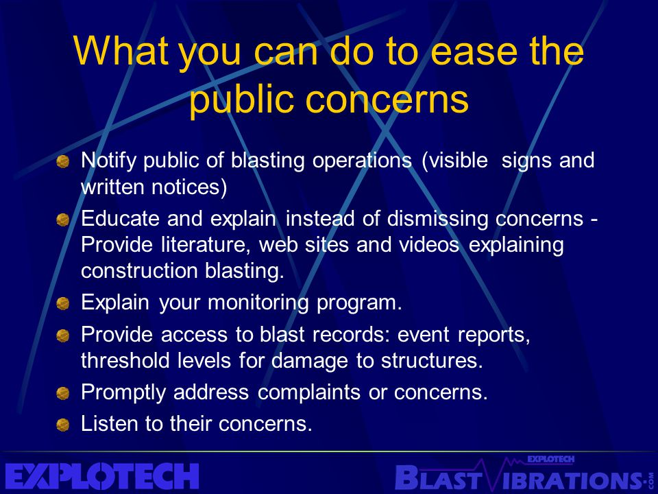 What you can do to ease the public concerns