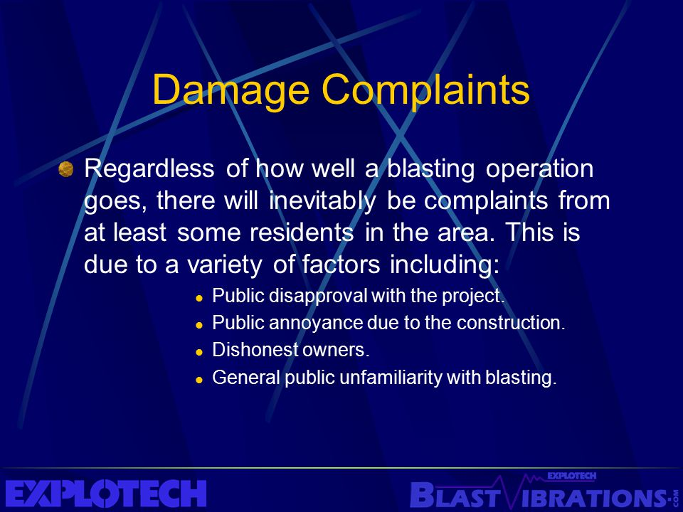 Damage Complaints