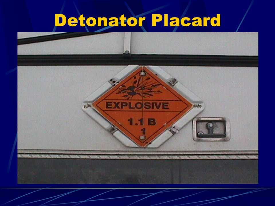 Detonator Placard