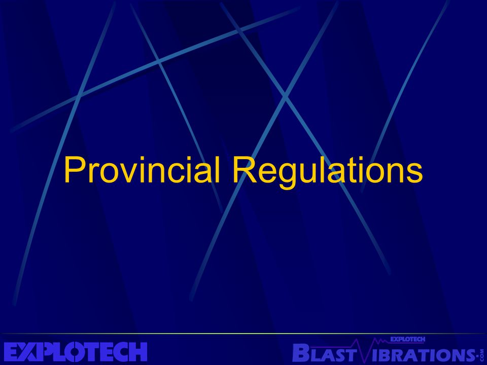 Provincial Regulations