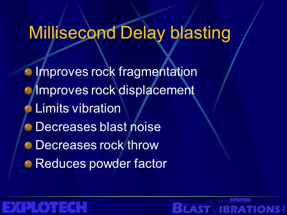 Millisecond Delay blasting