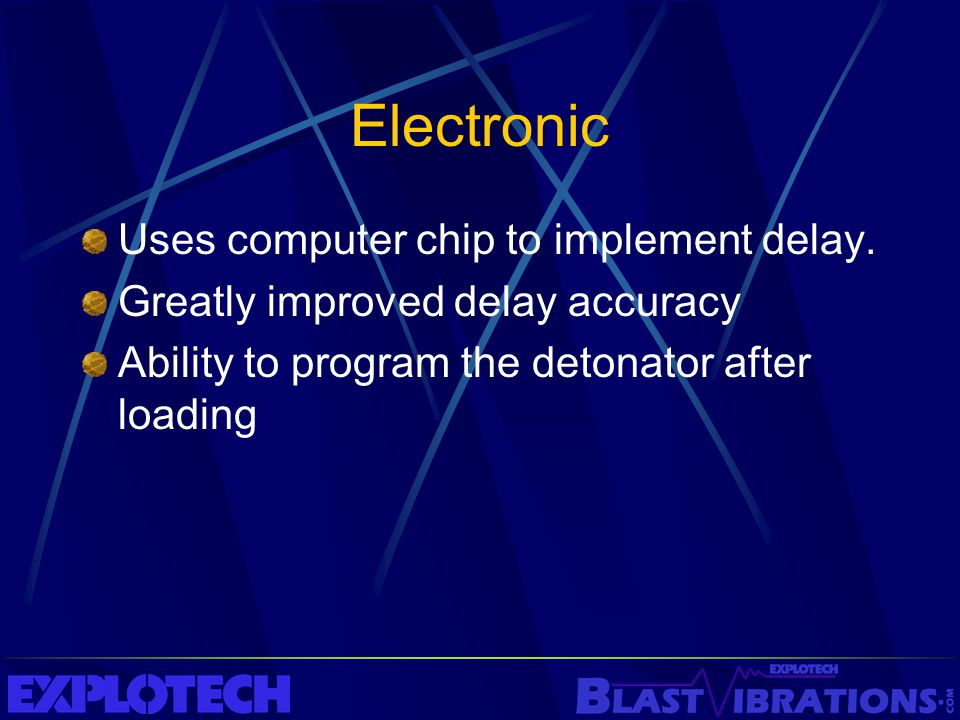 Electronic Uses computer chip to implement delay.