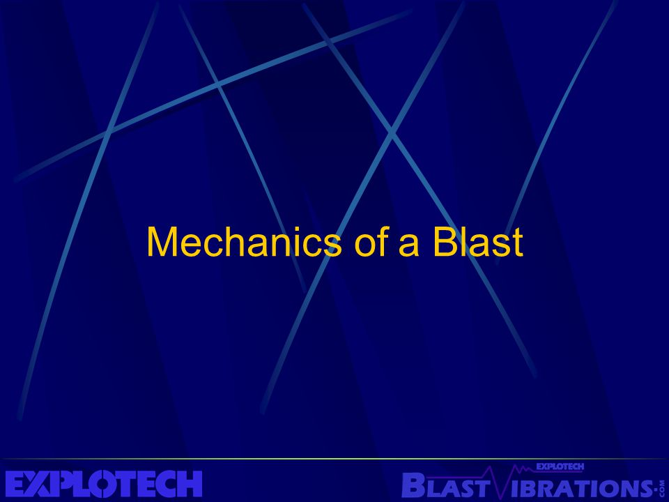 Mechanics of a Blast